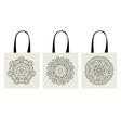 shopping bag arabesque ornaments vector image vector image