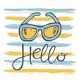 hello sunglasses pattern vector image