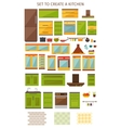 Kitchen Interior Elements Set vector image