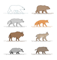 animals motion vector image