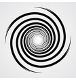 black spiral swirl circle vector image