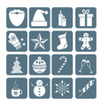 collection of christmas icons vector image