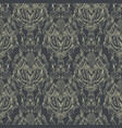 damask seamless pattern hand drawn ornamental vector image