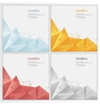 geometric rumpled triangular low poly style vector image
