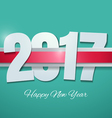 Happy New Year 2017 on Turquoise Background vector image