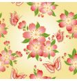 oriental floral pattern vector image