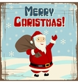 Retro santa claus card vector image
