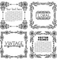 Set of four vintage floral frames vector image