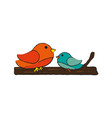 two birds icon image vector image