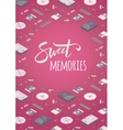 Sweet memories decorating design vector image