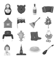 Russia country set icons in monochrome style Big vector image