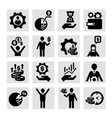business success icons vector image vector image