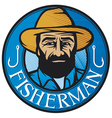 fisherman sign vector image vector image