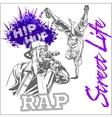 hip hop dancer on white background vector image vector image