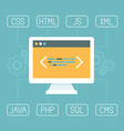 web development concept in flat style vector image vector image