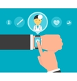 Smart wristwatch application for health vector image