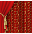 royal curtain vector image