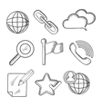 Multimedia and telecommunication icons sketches vector image vector image
