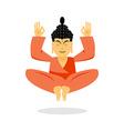 Buddha meditating Buddha on white background vector image