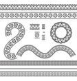 Seamless trims for use with fabric projects vector image vector image