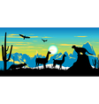 Argentinian Wildlife Background vector image vector image