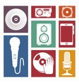 set the music industry devices isolated icon vector image