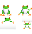 funny frog collection vector image vector image