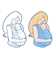 Babywearing With Mother vector image