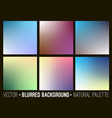 blurred abstract backgrounds collection vector image