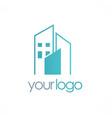 cityscape building logo vector image