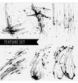 drawn black sharply ink texture set vector image