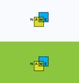 Frame geometric intersection logo vector image