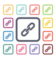 link flat icons set vector image