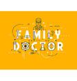 Medicine concept family vector image