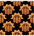 Seamless pattern of ears and gears vector image
