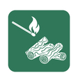Firewood and matches icon vector image