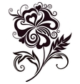 Abstract flower line-art vector image vector image