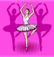 ballet dancer pop art vector image
