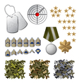 military icons vector image vector image