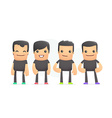 guys in colored sneakers vector image vector image