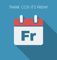 Friday poster vector image