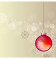 pastel christmas background with hanging ball vector image vector image