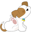 cute puppy scratching vector image