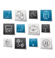 science and research icons vector image vector image
