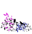 birds of floral vector image