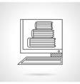 E-library flat line icon vector image