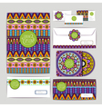 Ethnic ornament Document template design vector image
