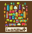 Set of city infographics in a flat style vector image