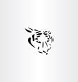tiger icon design vector image