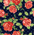Classical roses navy background vector image vector image